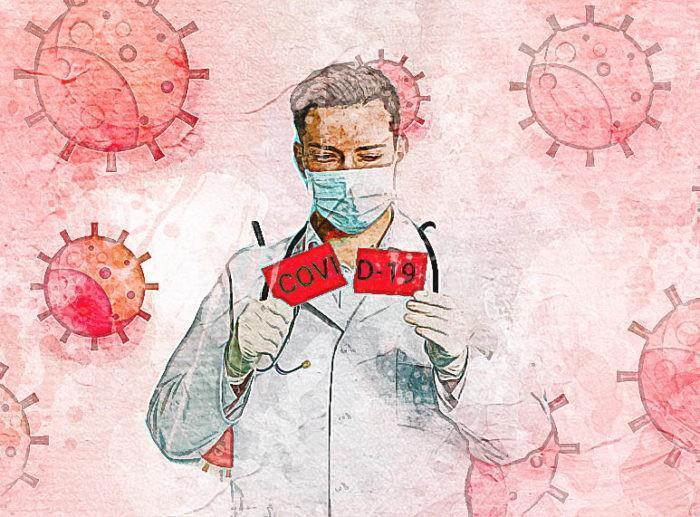 Врач и коронавирус.