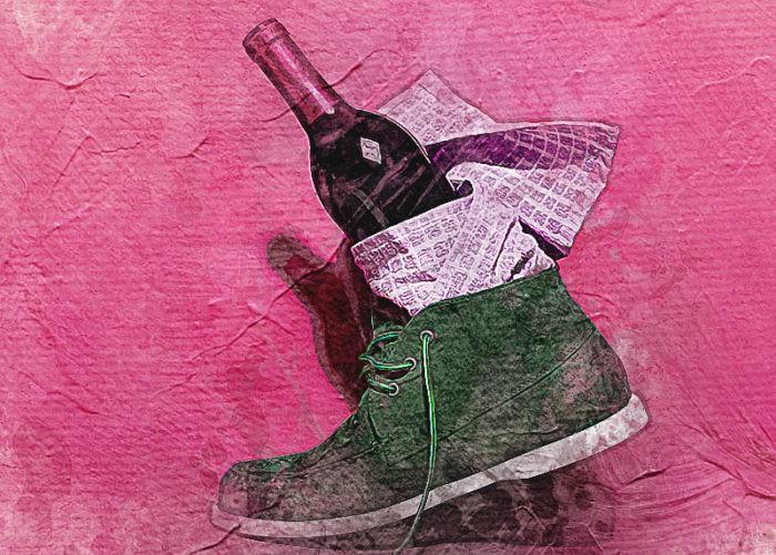 Открыть бутылку вина